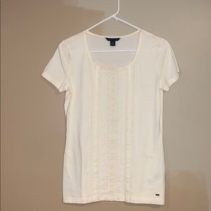 Tommy Hilfiger White Detailed Top
